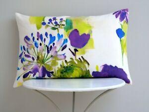 Prestigious Textiles Designer Cushion Cover Bright 'Painted Garden' Agapanthus