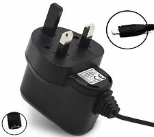 Micro Mains UK Charger Plug 3 Pin For Note II, Galaxy S, Samsung Galaxy S4