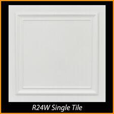 Ceiling Tiles Glue Up Styrofoam 20x20 R24 White Pack of 8