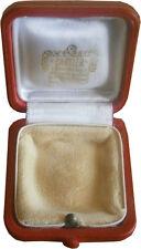 Authentic Vintage Cartier Small Square Ring Box Cream Interior Push Button