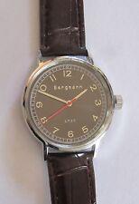 Bergmann 1937 * Rund * Herren Quarz Uhr * Lederband Braun * Selten RAR