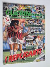 GUERIN SPORTIVO   N°9 1989  MILAN, BOLOGNA, POSTER NAPOLI, FILM DEL CAMPIONATO
