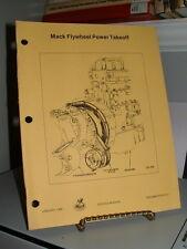 1980 Mack Trucks Service Manual Transmission Flywheel Power Takeoff 38 Pgs Exc.