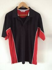 Gamegear Cotton/Polyester Polo Top T Shirt Size M Black & Red <R10090