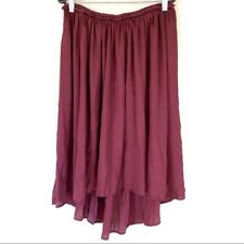 A pea in the pod maternity maroon high/low midi skirt size xs