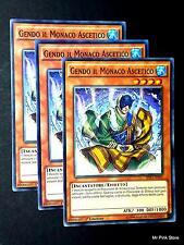 Set 3X GENDO IL MONACO ASCETICO the Ascetic Monk SHVI-IT041 Comune ITA YUGIOH