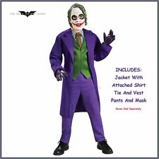 Licensed Deluxe Joker Batman Child Boys Dark Knight Dress up Halloween Costume