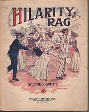Hilarity Rag 1910 James Scott Sheet Music