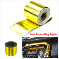 "Golden Color 2""x33' Vehicles Roll Self Adhesive Reflective Heat Shield Wrap Tape"