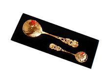 Cream Spoon + Sugar Seashell for 24 Carat Gold-Plated Hildesheim Rose, Case