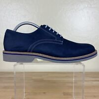 1901 Suede Oxford Shoes Mens Size 9.5 M Navy Blue Leather