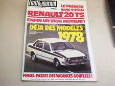 """REVUE  """" L' AUTO JOURNAL """" N° 13  ANNEE  1977  *"""