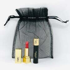 Yves Saint Laurent 2 pc Set With Pouch Lipstick in 01 & Mascara Travel Size