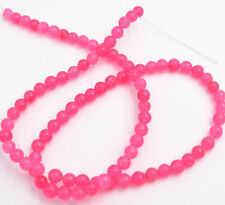 NEW 4MM Pink jade Round Gemstone Loose beads 15 ""