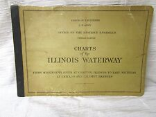 "1951 U.S. Army Corps of Engineers ""ILLINOIS WATERWAY NAVIGATION CHARTS"""