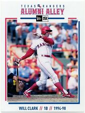 Texas Rangers New Era Alumni Alley Team Issued Postcard Will Clark SGA
