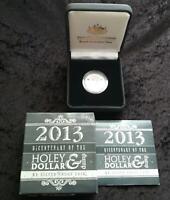 2013 NSW SILVER PROOF HOLEY DOLLAR & DUMP BICENTENARY in BOX - RAM - MINT