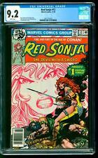 Red Sonja 12 CGC 9.2 NM- Roy Thomas story Frank Thorne cover Marvel 1978