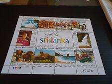 SRI LANKA 2011 SG 2101-2110 TOURISM DAY SHEETLET MNH