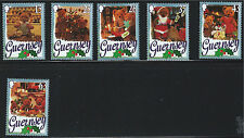 Guernsey SC609-614 TeddyBears Celebrating Christmas 1997 MNH