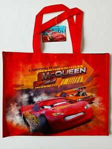 Cars Lightning MCQueen Extra Large Disney Gift Party Shopping Bag Tote Polyester