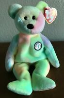 "Birthday Bear ""BB Bear"" TY Beanie Baby – 1999 Original, MWMT, RARE with ERRORS"