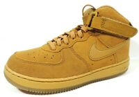 Nike Air Force 1 Mid LV8 Wheat-Gum Light Brown Leather Boys Shoes CK1404 700