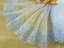 """8""""*1yard delicate light blue embroidered flower tulle lace trim DIY 0393"""