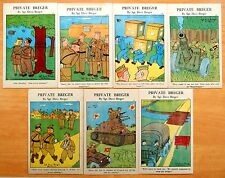 7 Military Comic Postcards Private Breger Sgt Dave Breger World War II 1943
