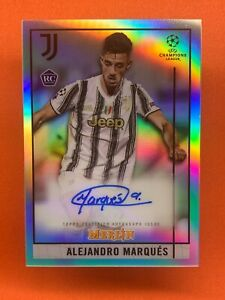 TOPPS MERLIN CHROME 20/21 ALEJANDRO MARQUES AUTO BCA-AM REFRACTOR ROOKIE CARD RC
