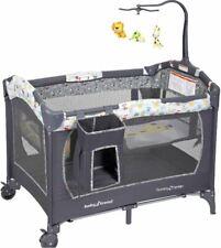 Baby Bassinet Infant Nursery Center Playard Playpen Gray