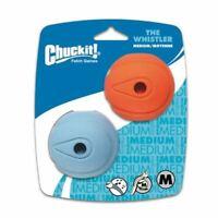 Chuckit The Whistler Ball - Natural Rubber - 6.5cm - 2 Pack - Medium