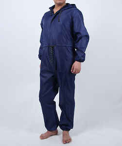 SPRAY PAINTERS QUALITY WASHABLE LIGHTWEIGHT NYLON OVERALL SPRAYSUIT ZIPPER UK