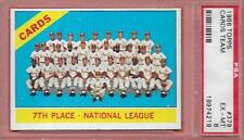 Crisp 1966 Topps Card #379 Cardinals Team Photo w/Musial Graded Psa 6 Ex-Mt *Abc