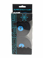 Supacaz Super Sticky Kush Road Bike Handlebar Tape, Black/Neon Blue