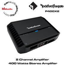 Rockford Fosgate Punch P400X2 400Watt 2-Channel Amplifier Speaker or Sub Amp