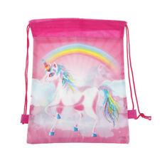 Unicorn Drawstring Gym Bag Polyester School Travel Bag PE Kit Children's Kids UK