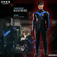 HZYM Batman:Arkham City Young Justice Nightwing Cosplay Costume Leather Outfit