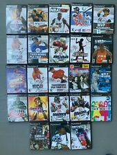 LOT OF 23 used PLAYSTATION 2 GAMES with PS2 Cases (Tiger Woods) Empty