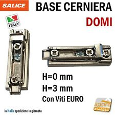 BASE PER CERNIERA CUCINA SALICE LINEARE INNESTO RAPIDO REGOLABILE H=0 H=3mm DOMI