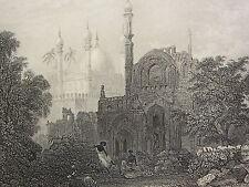 1860 print ~ Tombeau de meer Haiat kalender mungrool ~ l'affût de brigands
