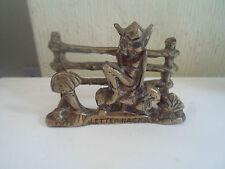 Decorative VINTAGE Rustic Cornish Pixie & Toadstools Letter Rack