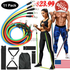 Exercise Resistance Bands Set -  Home Workouts, Physical Therapy, Gym Training