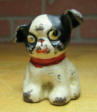 Old Cast Iron FIDO Dog Paperweight Decorative Statue Small Childs Toy Ears Up