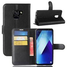 Cover Wallet Premium Black for Samsung Galaxy A8 Plus 2018 a730f Case