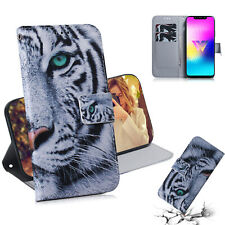 Cool white tiger Wallet Multi-function Leather cover Case skin for various phone