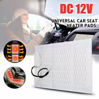 Seats Carbon Fiber Heated Seat Heater Pad Kit Car Cushion Round Switch 12V 30W