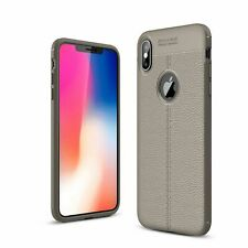 Apple iPhone XS Max Luxury Shockproof Leather Pattern Soft TPU Protective Case