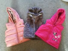 Baby girls 3-6 months clothes bundle. Next / Disney winter gilets Minnie mouse