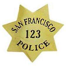Metal Lapel Pin Police  Badge San Francisco California New